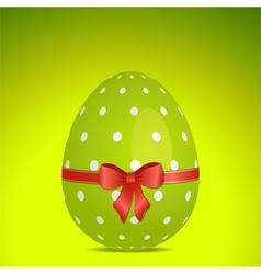 Green polka dot easter egg vector