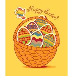 Egg basket vector