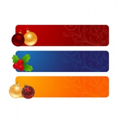 Three horizontal banners vector