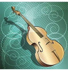The double bass vector
