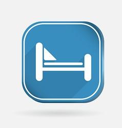 Bed symbol sign color square icon vector