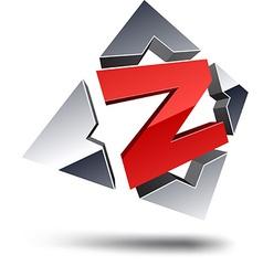 Z 3d letter vector