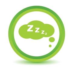 Green sleep icon vector