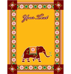 Hindu template with elephant vector