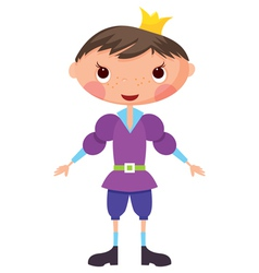 Cartoon prince vector