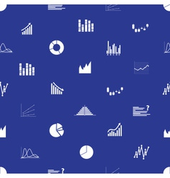 Graphs icons seamless pattern eps10 vector