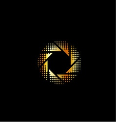 Golden photography logo vector