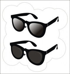 Sunglasses in the classical style vector