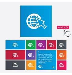 Internet sign icon world wide web symbol vector