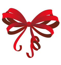 Red gift bow vector
