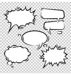 Set of comic bubbles empty vector