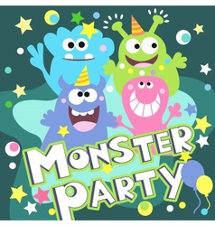 Monster party poster vector