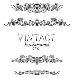 Set of vintage ornate elements for page decoration vector