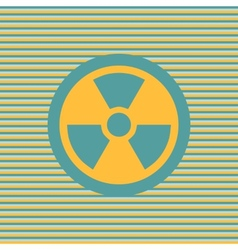 Radiation color flat icon vector