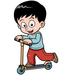 Little boy skateboarding vector