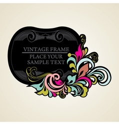 Elegance vintage frames for your text vector