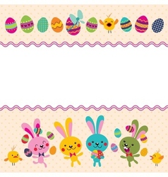 Happy easter greeting card 4 vector