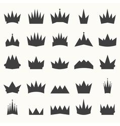 Crown icons set heraldic design elements vector