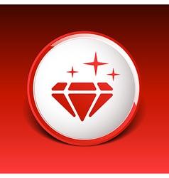 A blue diamond icon glitter icon stone vector