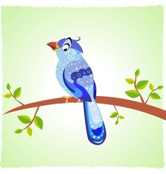 Bird blue vector