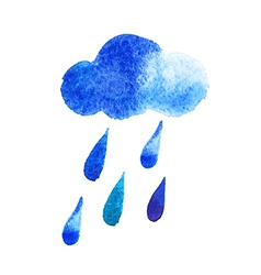 Watercolor rain drops seamless background with vector