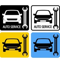 Set of auto service icons vector