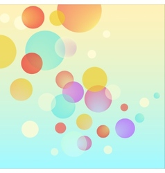 Abstract bubble circles colorful background vector