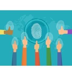 People fingerprints vector