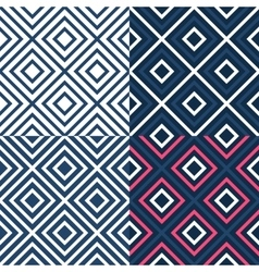 Bright contrast seamless geometrical pattern vector