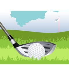 Golf club and ball vector