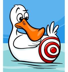 Sitting duck saying cartoon vector