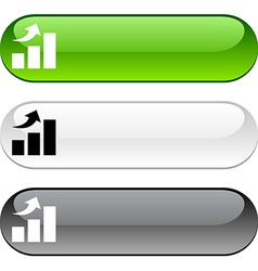 Growth button vector