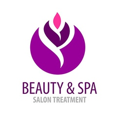 Spa treatment salon logo template vector