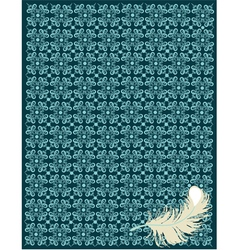Wallpaper texture with feather vector