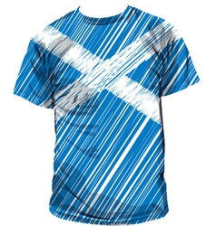 Scottish tee vector