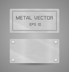 Metal texture label for background vector