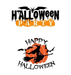 Happy halloween party advertisement vector