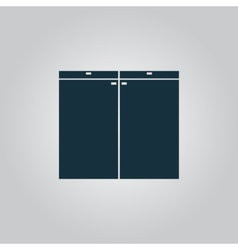 Cabinet icon sign and button vector