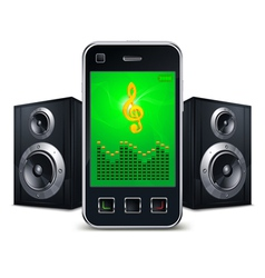 Mobile phone with speakers vector