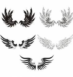 Grunge wings vector