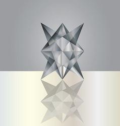 Black grey crystal vector
