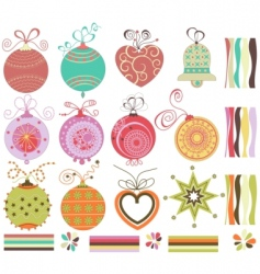 Christmas balls collection vector