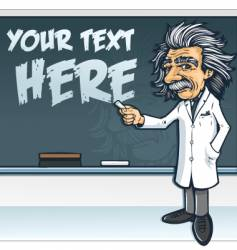 Einstein blackboard vector