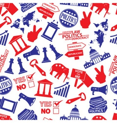 Politics red and blue seamless pattern eps10 vector