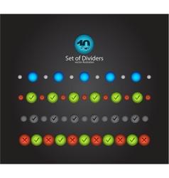 Web divider set vector