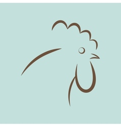 Rooster icon vector