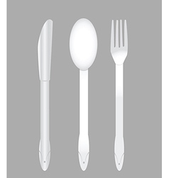 Knife fork and spoon set vector