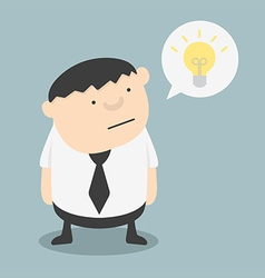 Fat businessman with ideas themselves vector