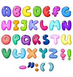3d bubble alphabet vector