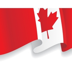 Background with waving canadian flag vector